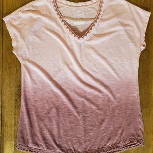 Sonoma medium pink faded short sleeve shirt